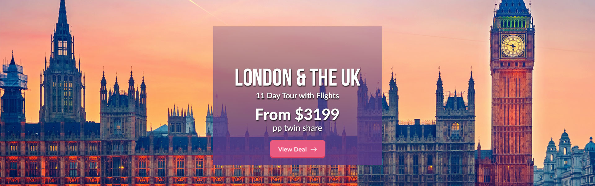 UK Tour with Flights